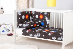 Galaxy Design Nursery Cot Bumper Bedding Set