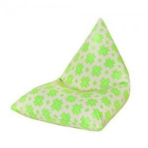 Block Lime Water Resistant Pyramid Shaped Children's Filled Bean Bag Lounger