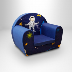 Space Boy Design Children's Single Foam Chair