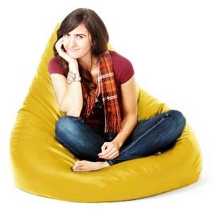 Yellow Outdoor Water Resistant Bean Bag Seat Garden Gamer Chair Lounger