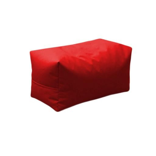 Large Bean Chair With Foot Stool Red