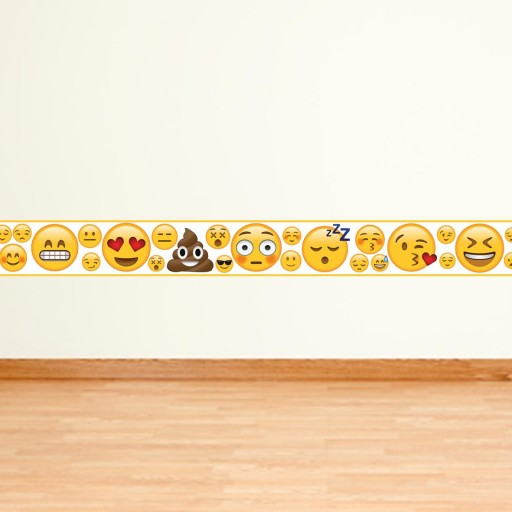 Emoji Girl Design Children S Vinyl Wall Border Sticker Room Decor