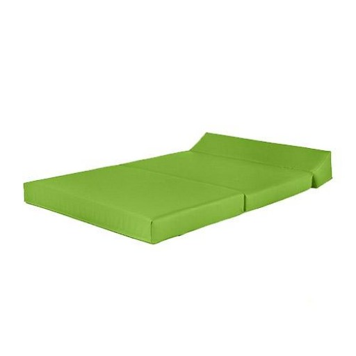 Lime Green Faux Leather Double Fold Out Foam Z Bed Guest