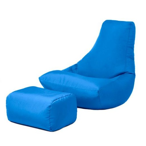 blue water resistant gaming bean bag lounger chair and. Black Bedroom Furniture Sets. Home Design Ideas