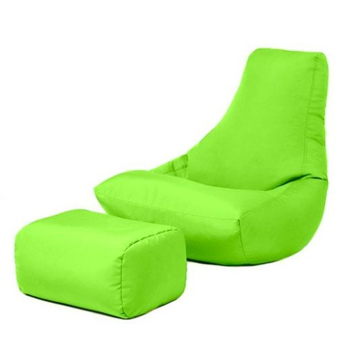 Lime Green Water Resistant Gaming Bean Bag Lounger Chair