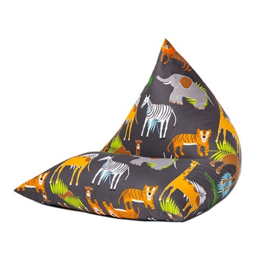 Africa Design Pyramid Shaped Large Bean Bag Lounger