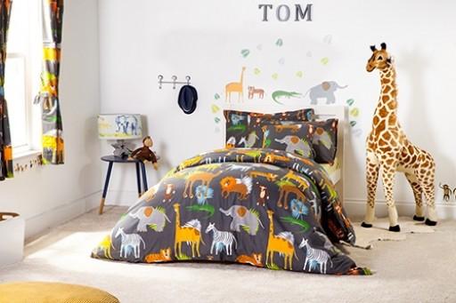Africa Design Children's Cotbed Duvet Cover Set