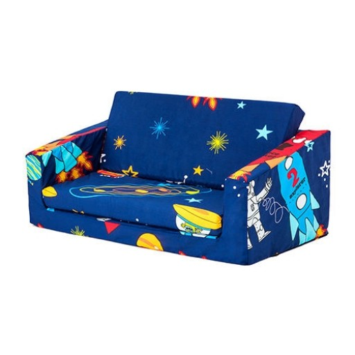 Space Boy Children's 'Lily' Foam Fold Out Sofa Bed Lounger