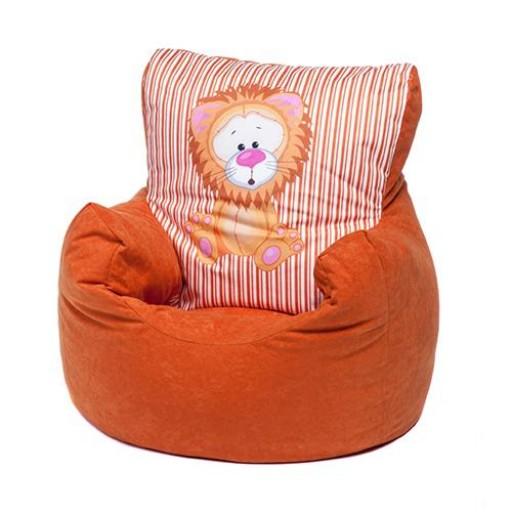 Children S Animal Print Soft Bean Bag Chair Lion